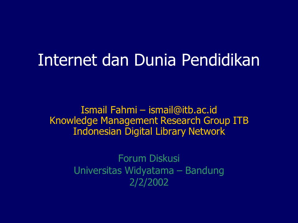 Important URLs  IndonesiaDLN web site; Mailing list; technical, scenario, society, announcement; standard, http://idln.itb.ac.id http://idln.itb.ac.id  About GDL-Network, registration, join, software, patch, download, etc, http://gdlhub.indonesiaDLN.org/faqgdl.php http://gdlhub.indonesiaDLN.org/faqgdl.php  Download GDL source code for free, http://gdl.itb.ac.id/download/ http://gdl.itb.ac.id/download/  GDL-HUB, http://gdlhub.indonesiaDLN.orghttp://gdlhub.indonesiaDLN.org  Digital Library ITB, http://digilib.itb.ac.idhttp://digilib.itb.ac.id  Contact KMRG: kmrg@kmrg.lib.itb.ac.idkmrg@kmrg.lib.itb.ac.id