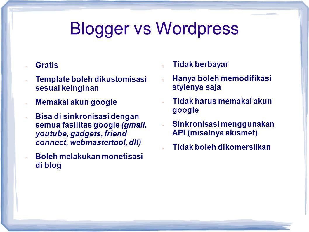 Persiapan Ngeblog • Niat dan Doa • Memilih topik yang cocok • Memilih Domain / Nama yang tepat • Nama seharusnya berkaitan dengan tema dan isi blog.