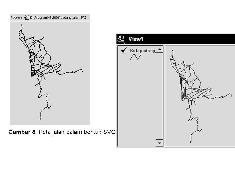 Gambar 5. Peta jalan dalam bentuk SVG