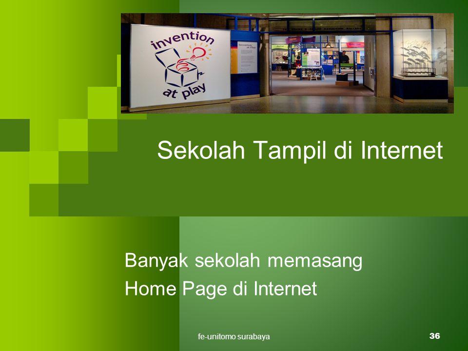 fe-unitomo surabaya36 Sekolah Tampil di Internet Banyak sekolah memasang Home Page di Internet