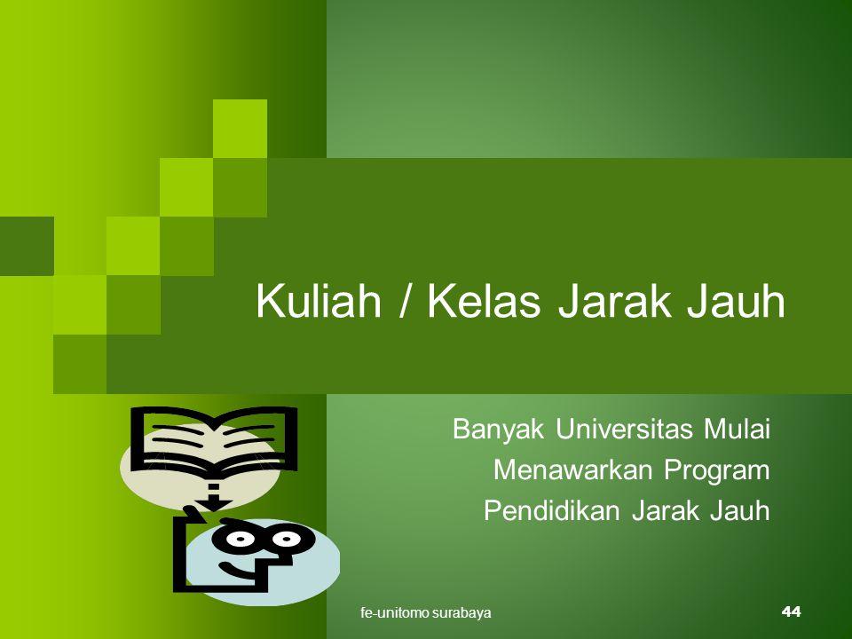 fe-unitomo surabaya44 Kuliah / Kelas Jarak Jauh Banyak Universitas Mulai Menawarkan Program Pendidikan Jarak Jauh