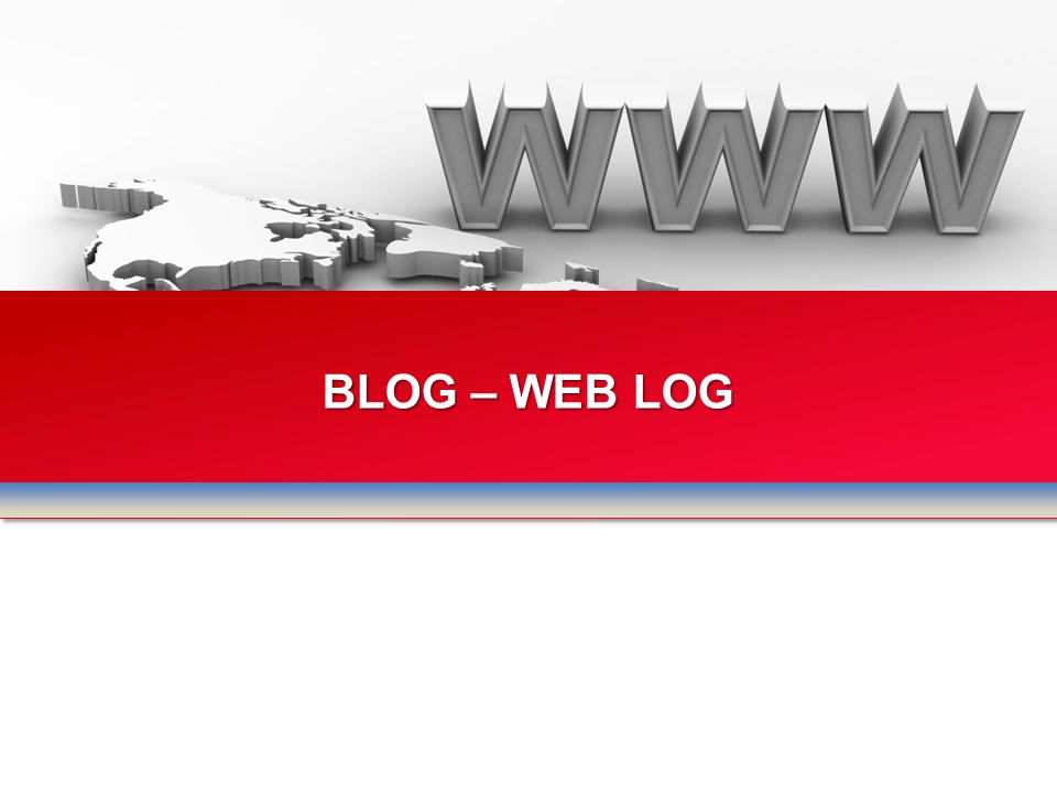 BLOG – WEB LOG