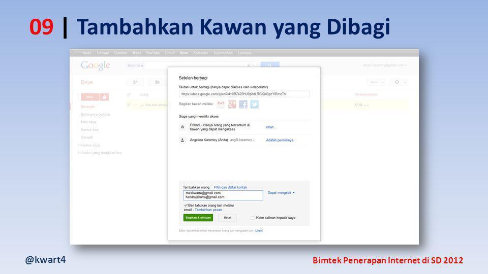 @kwart4 Bimtek Penerapan Internet di SD 2012 09 | Tambahkan Kawan yang Dibagi