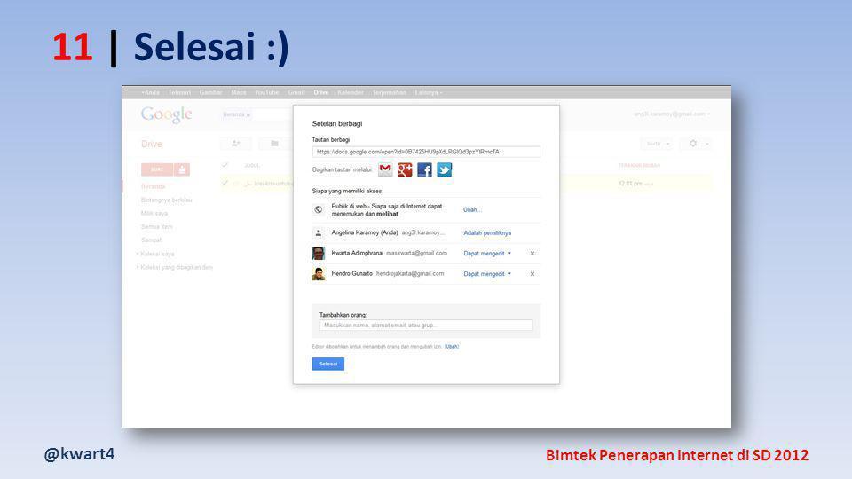 @kwart4 Bimtek Penerapan Internet di SD 2012 11 | Selesai :)