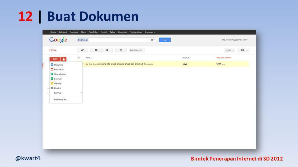 @kwart4 Bimtek Penerapan Internet di SD 2012 12 | Buat Dokumen