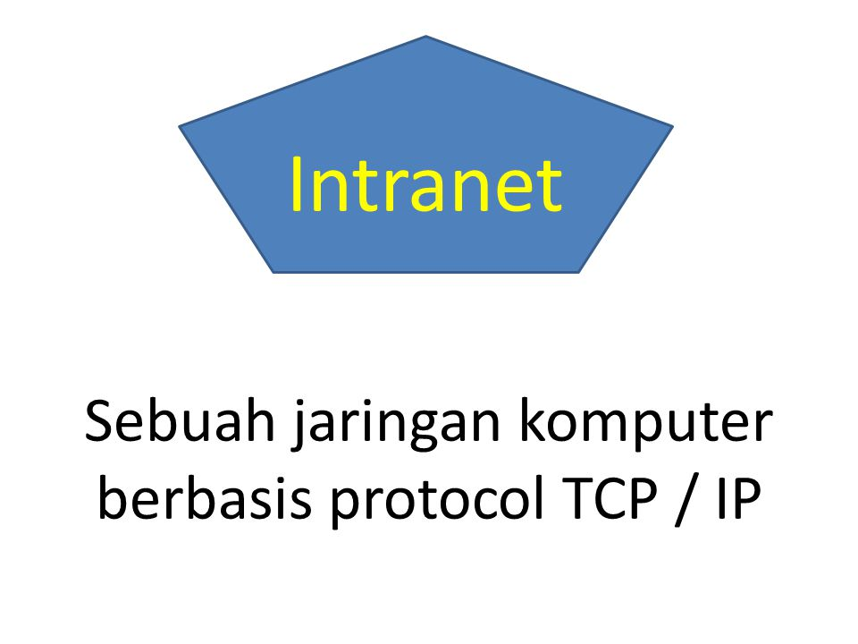 Sebuah jaringan komputer berbasis protocol TCP / IP Intranet