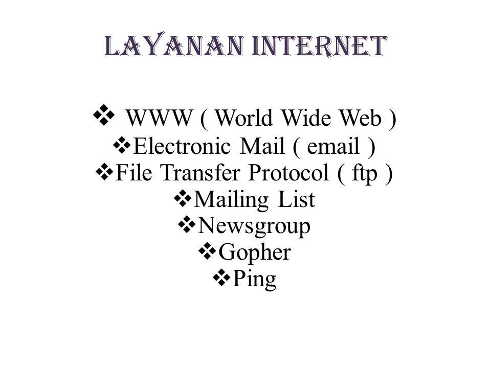 Manfaat internet  Media komunikasi  media promosi  Alat komunikasi interaktif  Alat penelitian  Media pertukaran data
