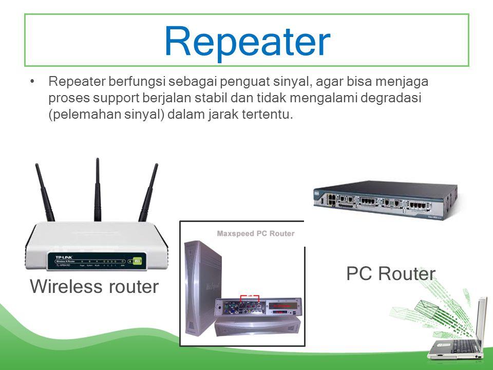BRIDGE •Brigde berfungsi untuk menghubungkan dua buah LAN dan mengirimkan paket data. Bridge mempunyai kemampuan yang lebih baik dibandingkan hub atau