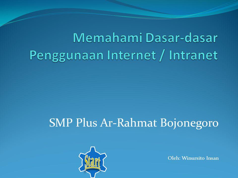 SMP Plus Ar-Rahmat Bojonegoro Oleh: Winursito Insan