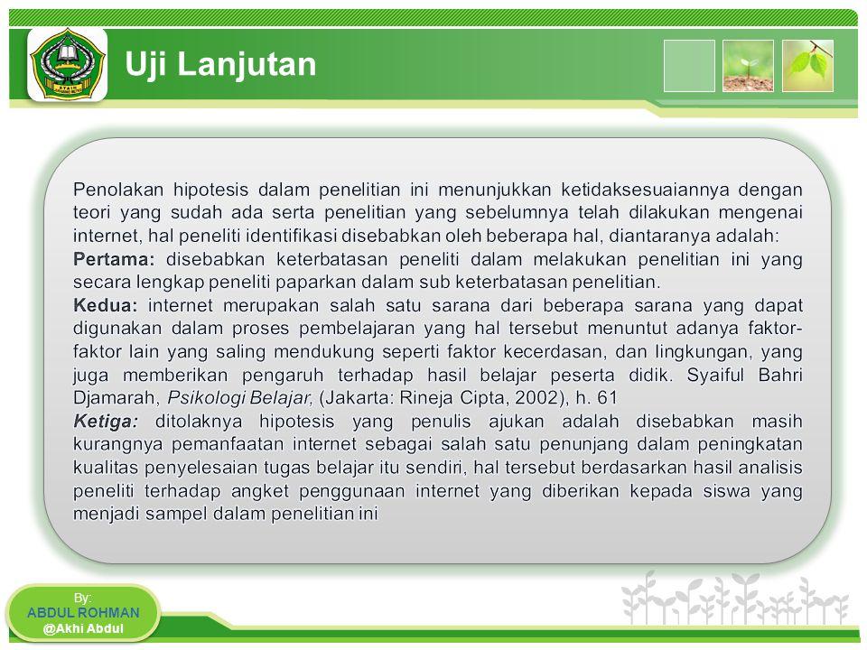 www.themegallery.com Uji Lanjutan By: ABDUL ROHMAN @Akhi Abdul By: ABDUL ROHMAN @Akhi Abdul