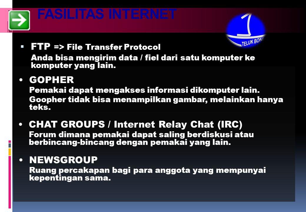 MANFAAT INTERNET  GUDANG INFORMASI  E-COMMERCE  BERITA-BERITA UP TO DATE  PERPUSTAKAAN  PENDIDIKAN  DLL.