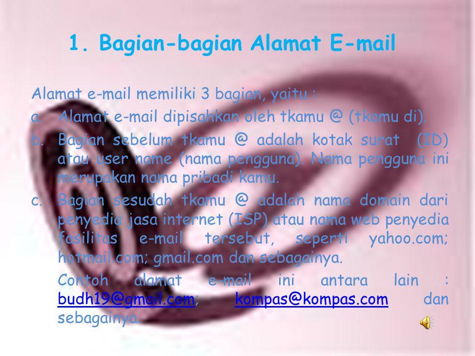 A. Pendahuluan E-mail atau electronic mail (surat elektronik) merupakan salah satu atau pelayanan internet yang sering kita gunakan. Sebagai alat komu