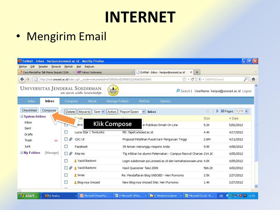 INTERNET • Mengirim Email Klik Compose