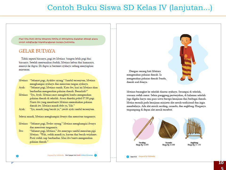 105105 Contoh Buku Siswa SD Kelas IV (lanjutan...)