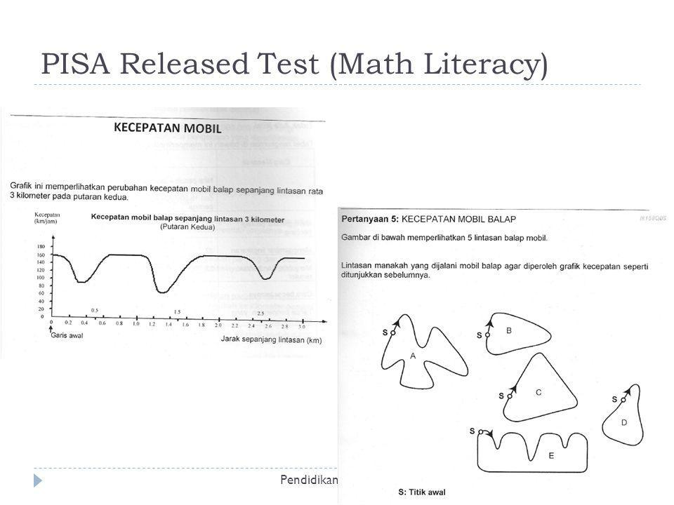 PISA Released Test (Math Literacy) Pendidikan Sains dan Matematika ~ @iwanpranoto