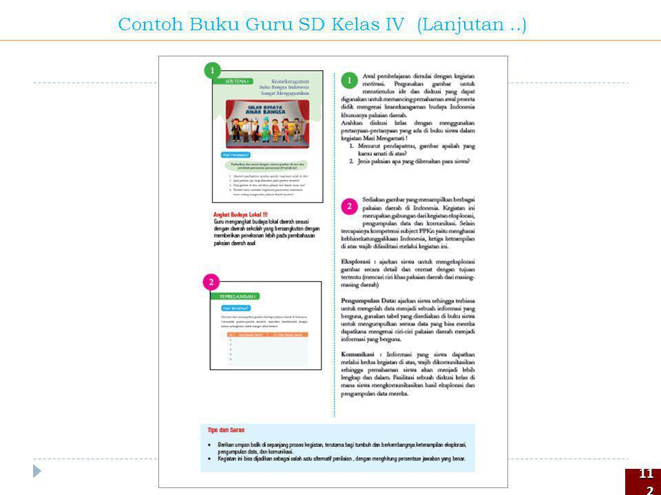 112112 Contoh Buku Guru SD Kelas IV (Lanjutan..)