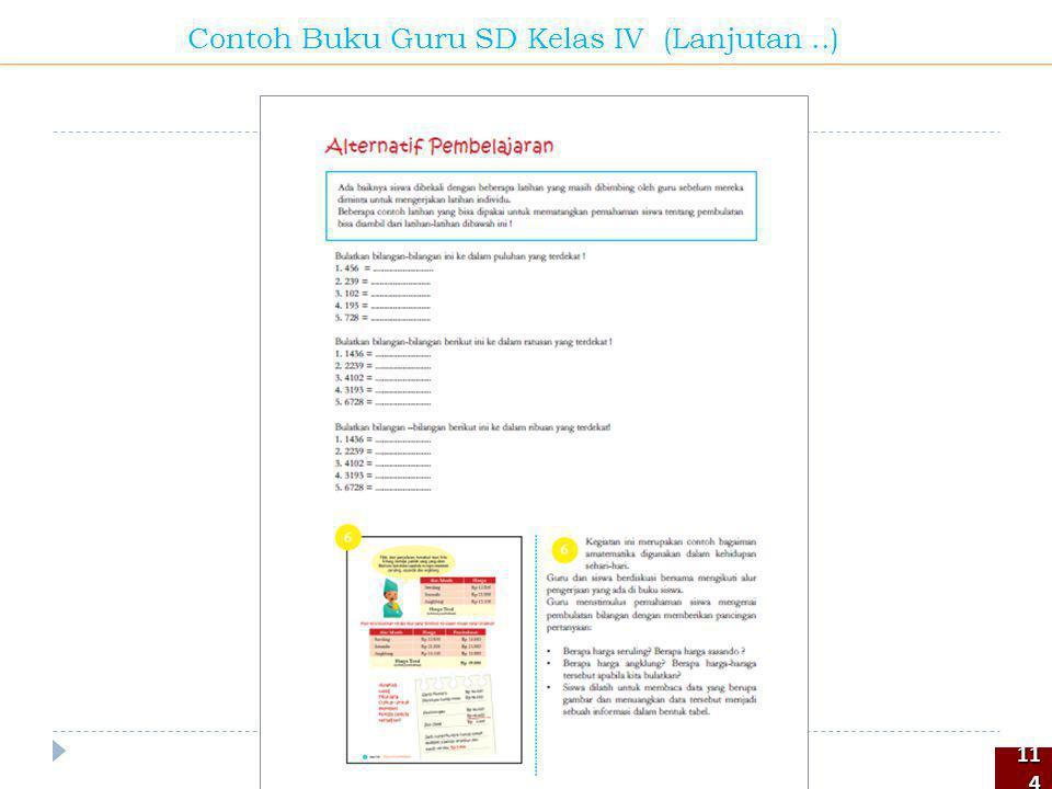 114114 Contoh Buku Guru SD Kelas IV (Lanjutan..)