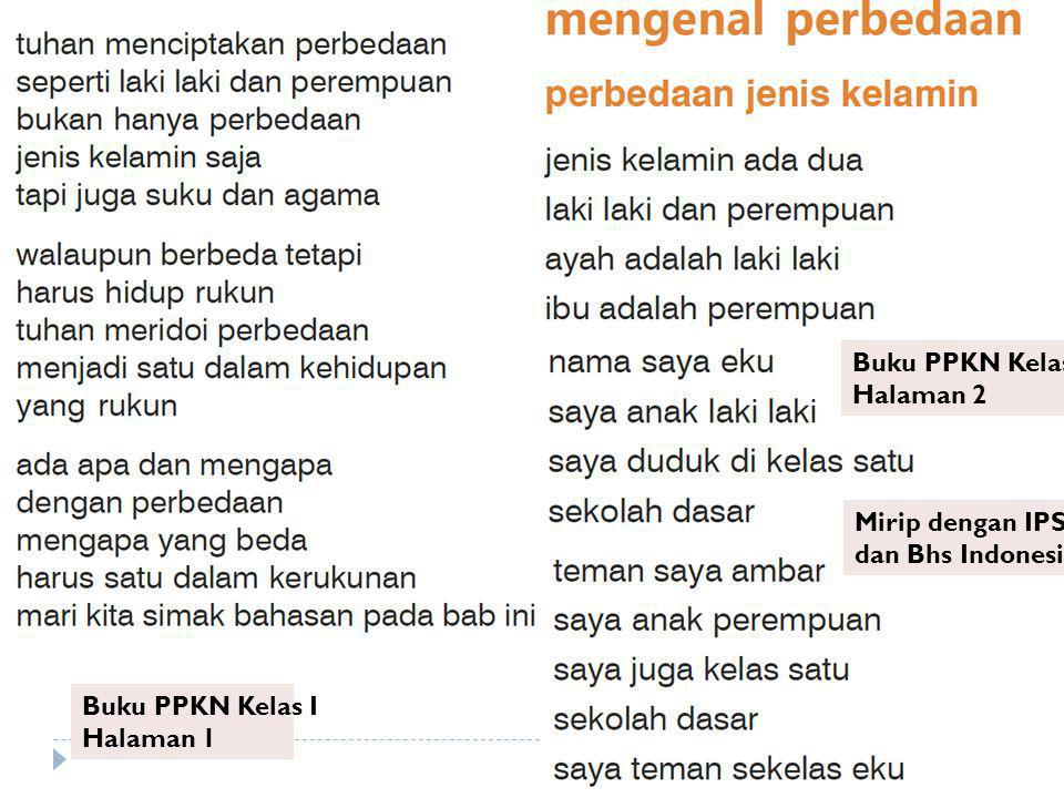 Buku PPKN Kelas I Halaman 1 Buku PPKN Kelas I Halaman 2 Mirip dengan IPS dan Bhs Indonesia