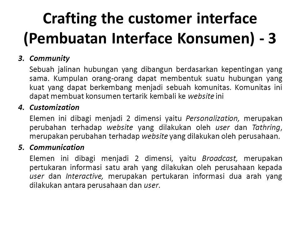 Crafting the customer interface (Pembuatan Interface Konsumen) - 3 3.Community Sebuah jalinan hubungan yang dibangun berdasarkan kepentingan yang sama