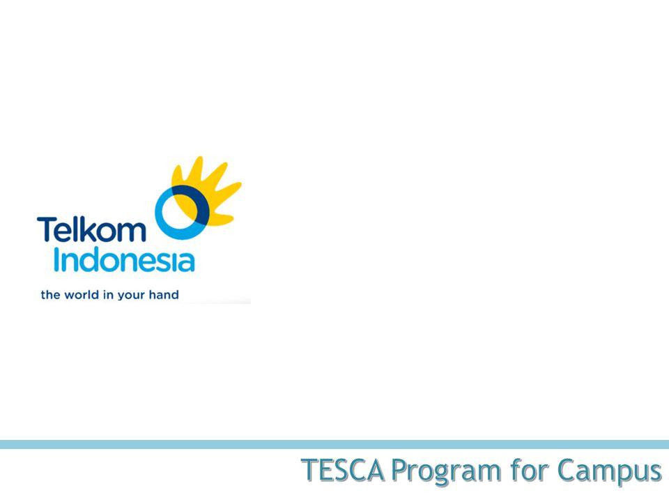 24 TESCA sebagai Standar WCU untuk ICT • Program TeSCA merupakan bagian dari Program Corporate Social Responsibility (CSR) Telkom yang pelaksanaannya dilakukan bekerjasama dengan lembaga independen.