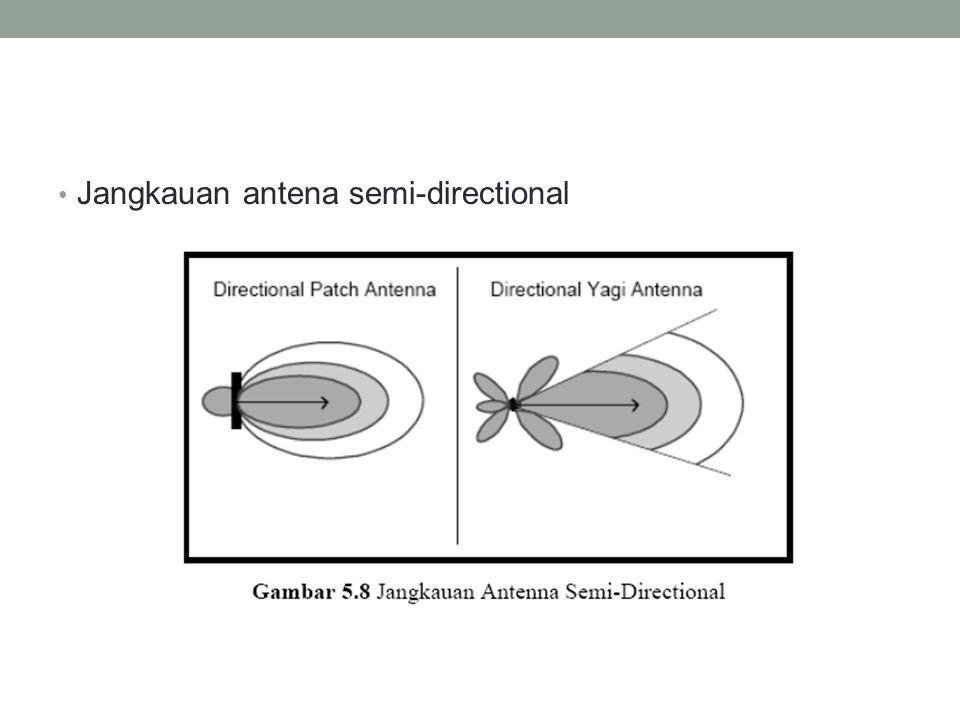 • Jangkauan antena semi-directional