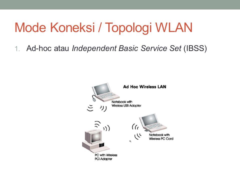 2. Infrastruktur atau Basic Service Set (BSS)