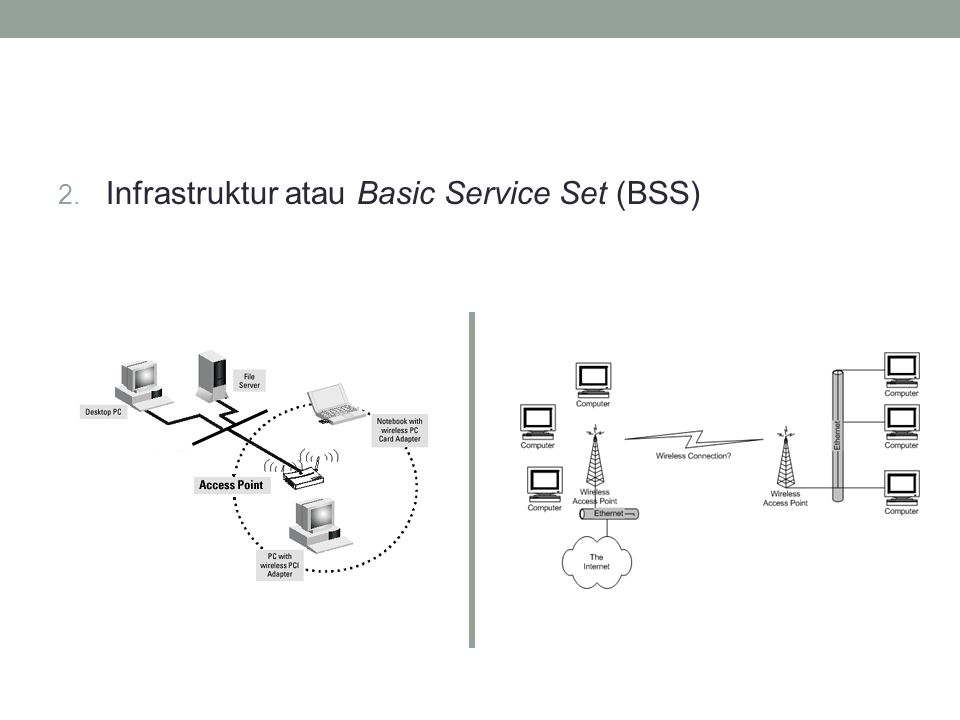 Antena Wireless • Ada 3 kategori umum yang membagi antenna wireless LAN : omni directional, semi-directional, dan highly-directional.