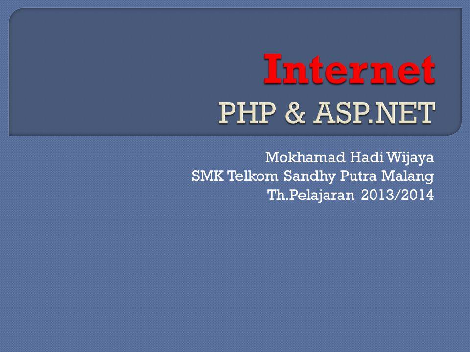 Mokhamad Hadi Wijaya SMK Telkom Sandhy Putra Malang Th.Pelajaran 2013/2014