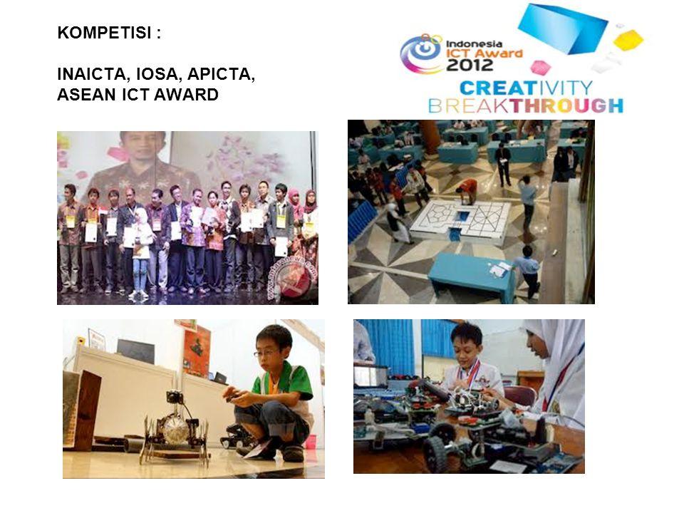 KOMPETISI : INAICTA, IOSA, APICTA, ASEAN ICT AWARD