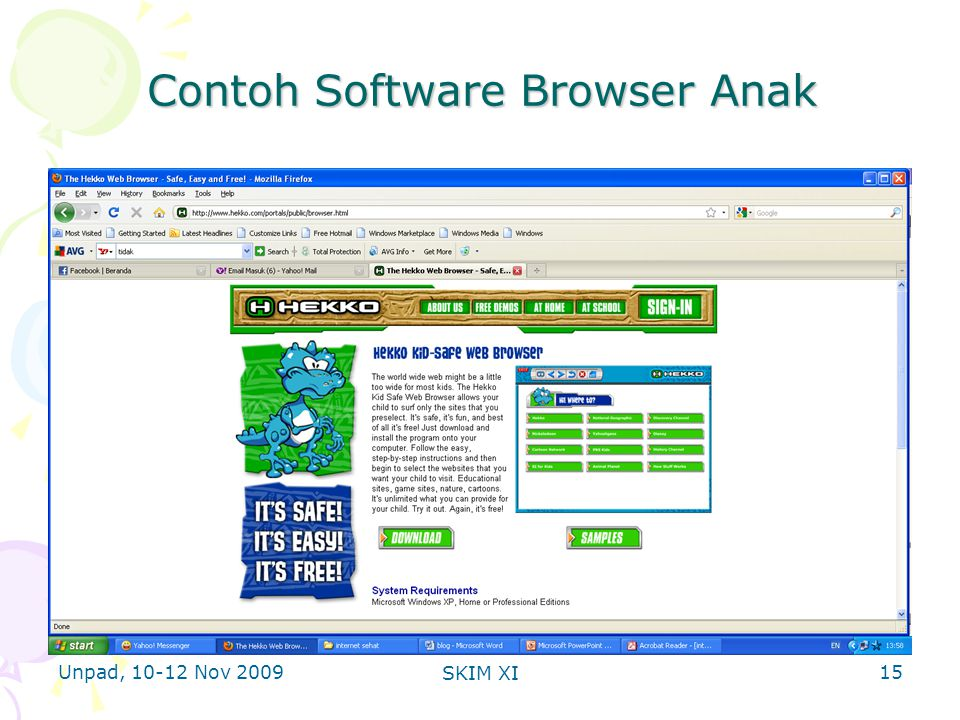 Unpad, 10-12 Nov 2009 SKIM XI Contoh Software Browser Anak 15