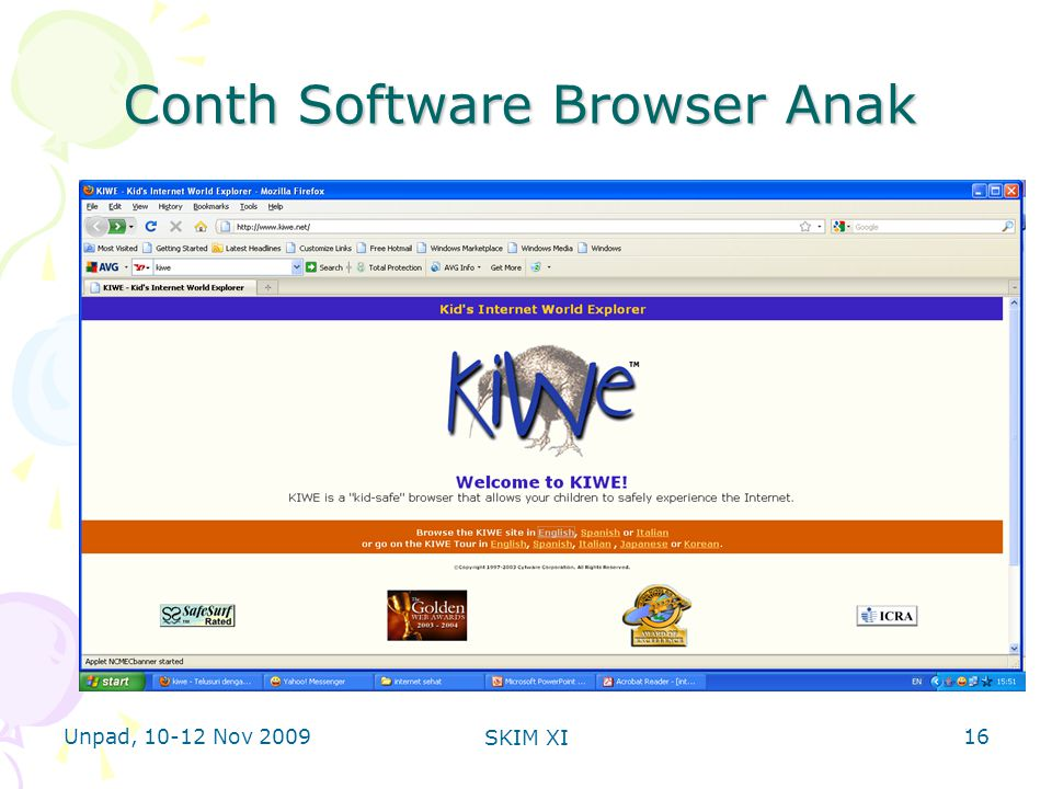 Unpad, 10-12 Nov 2009 SKIM XI Conth Software Browser Anak 16