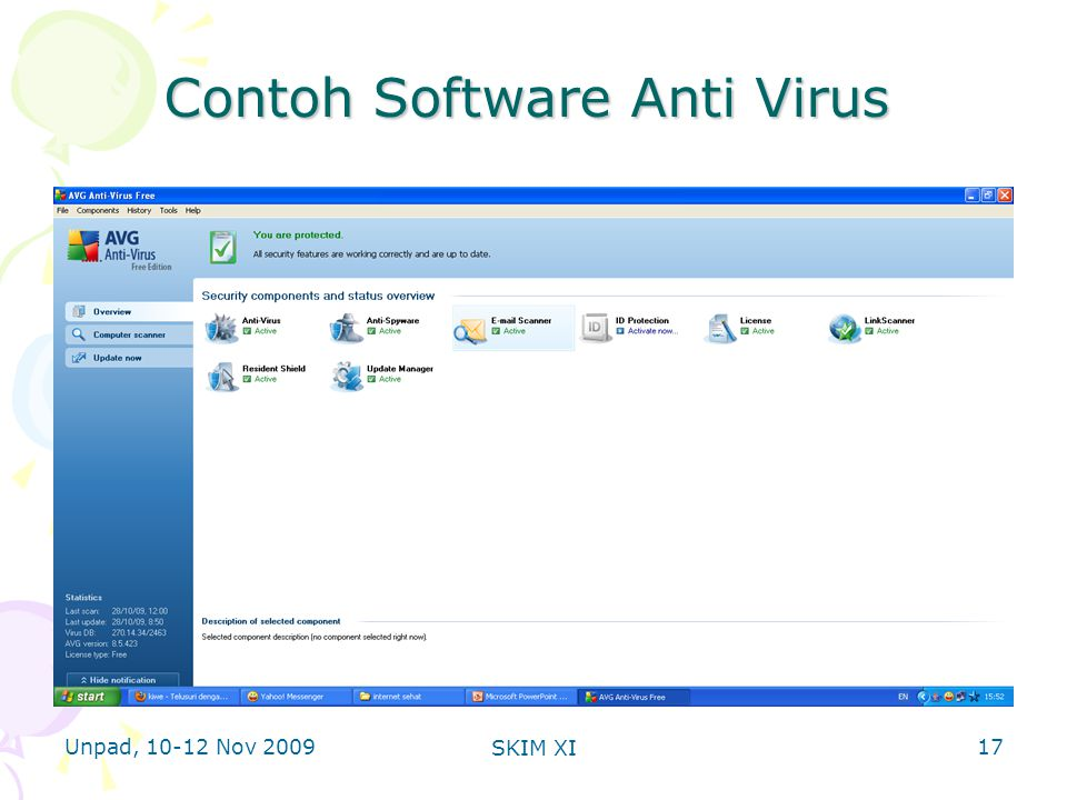 Unpad, 10-12 Nov 2009 SKIM XI Contoh Software Anti Virus 17