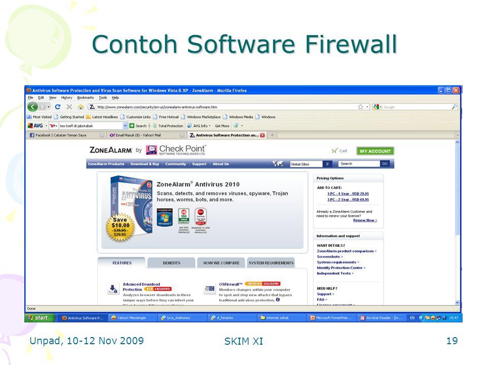 Unpad, 10-12 Nov 2009 SKIM XI Contoh Software Firewall 19
