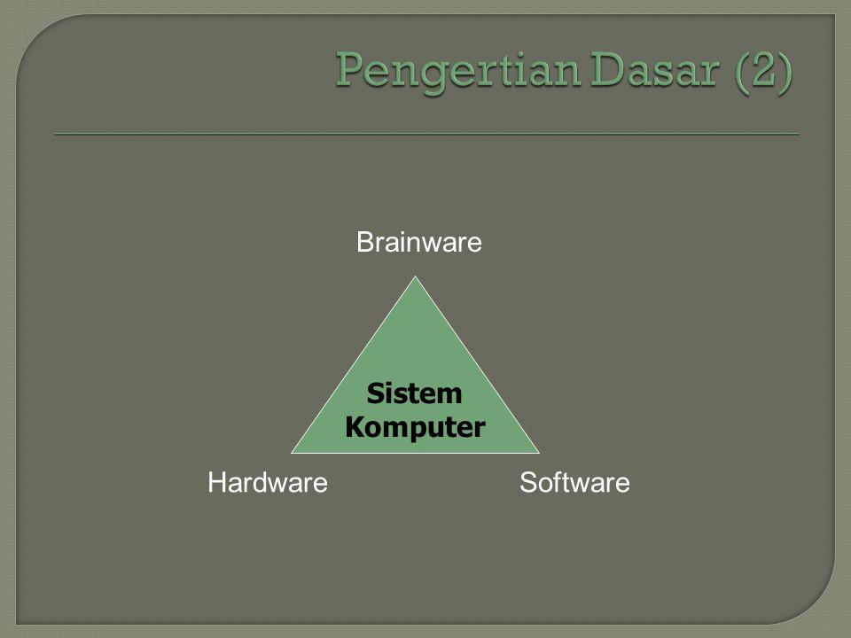 Sistem Komputer Brainware HardwareSoftware