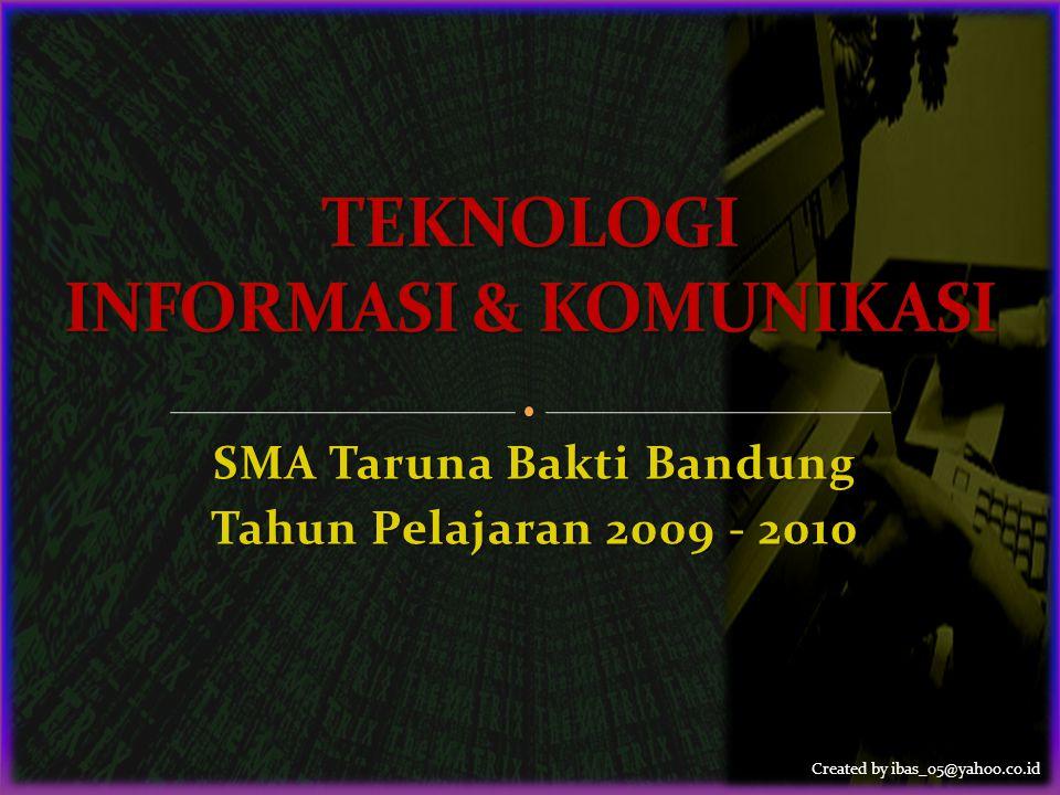 Created by ibas_05@yahoo.co.id SMA Taruna Bakti Bandung Tahun Pelajaran 2009 - 2010