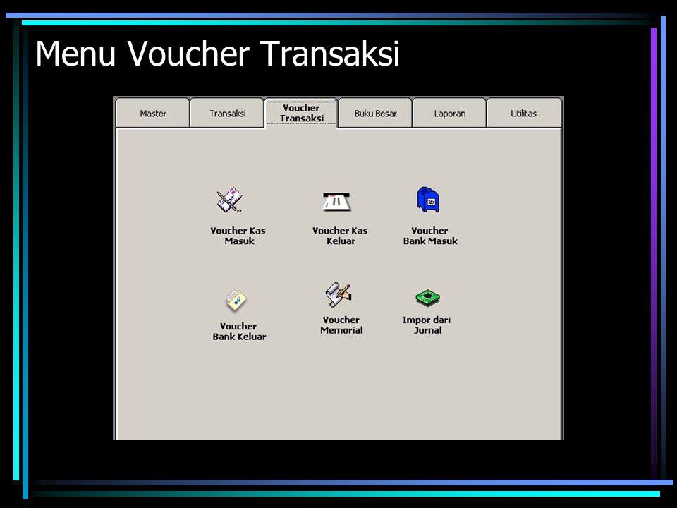 Menu Voucher Transaksi
