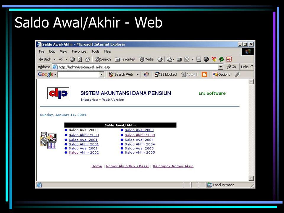 Saldo Awal/Akhir - Web