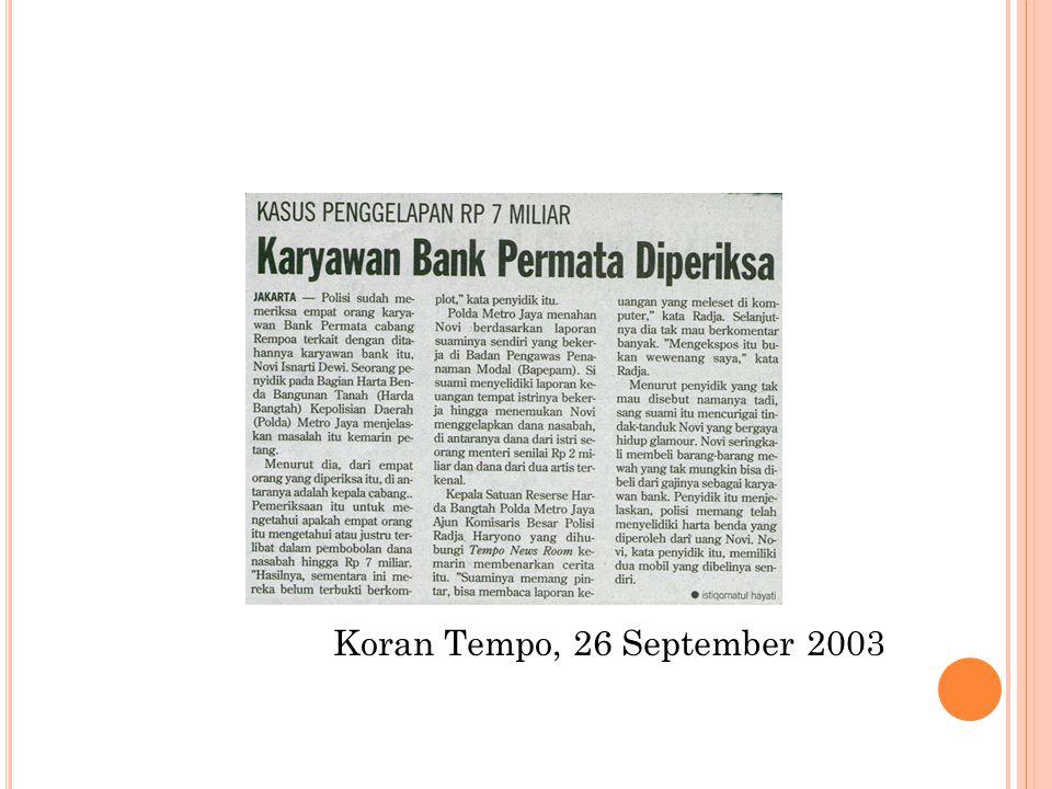 Koran Tempo, 26 September 2003