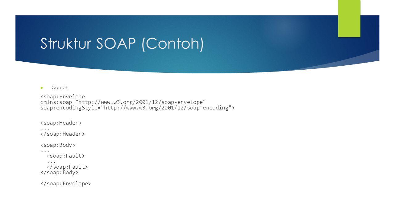 WSDL (Web Service Definition Language)  Bahasa berbasis XML untuk mendeskripsikan Web services dan bagaimana untuk mengaksesnya.