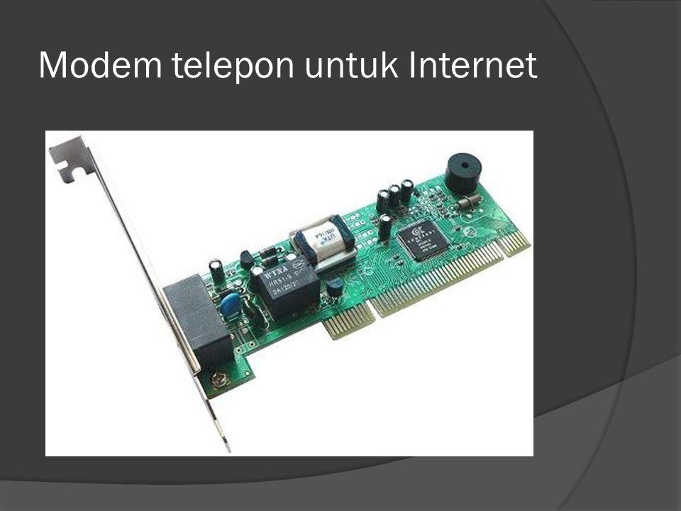 Modem telepon untuk Internet