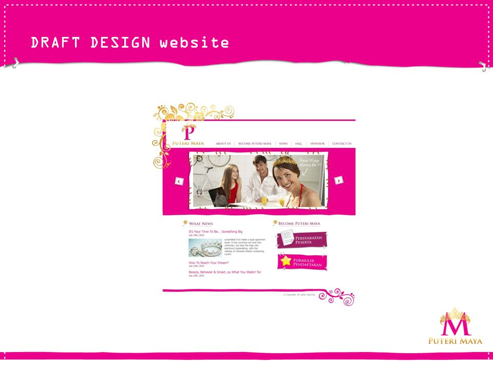 DRAFT DESIGN website