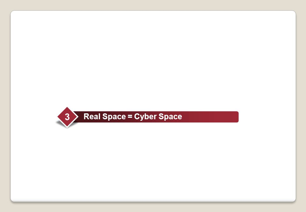 Real Space = Cyber Space 3