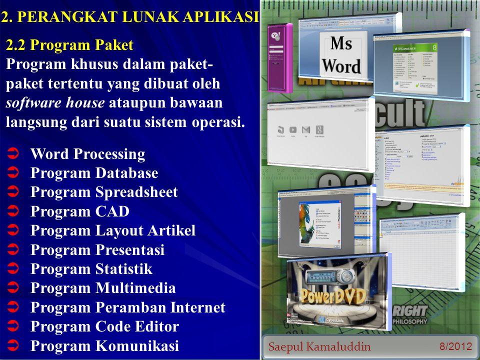 Saepul Kamaluddin 8/2012 2.