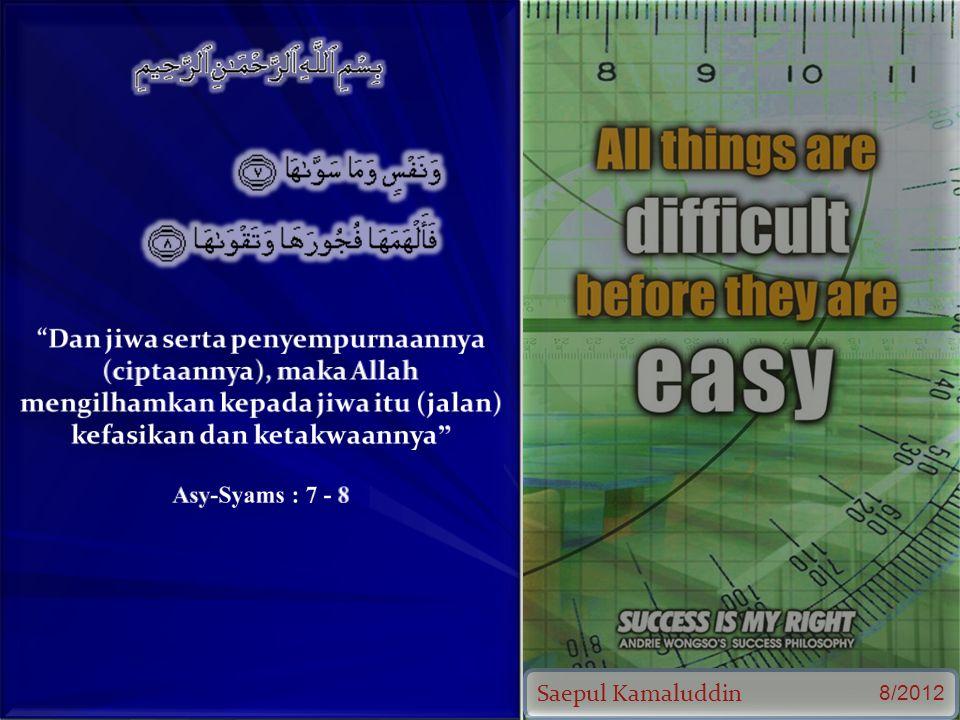 Saepul Kamaluddin 8/2012