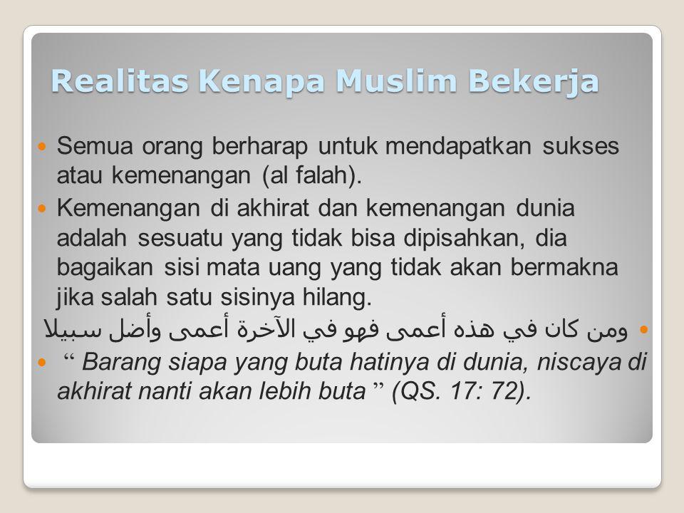 FALSAFAH BEKERJA DALAM ISLAM Muhammad Yasir Yusuf Disampaikan Pada Pengajian Perdana IIBF Aceh, Tanggal 19 Desember 2012