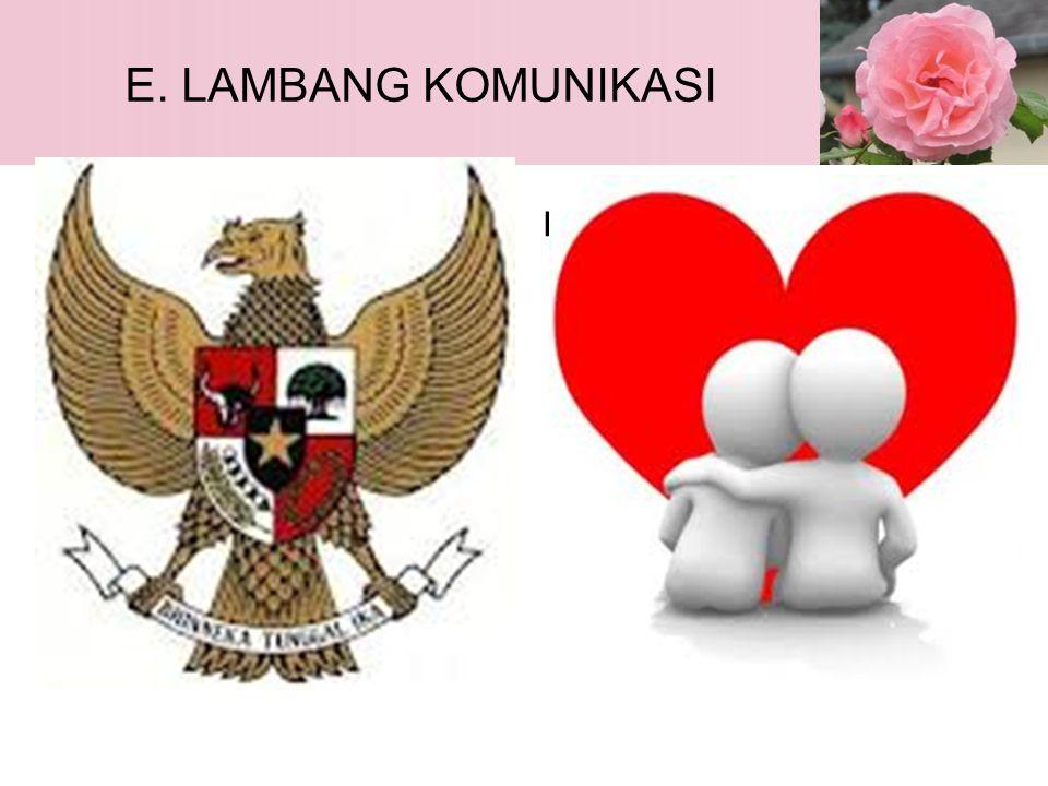 E. LAMBANG KOMUNIKASI Garuda PancasilaL O V E