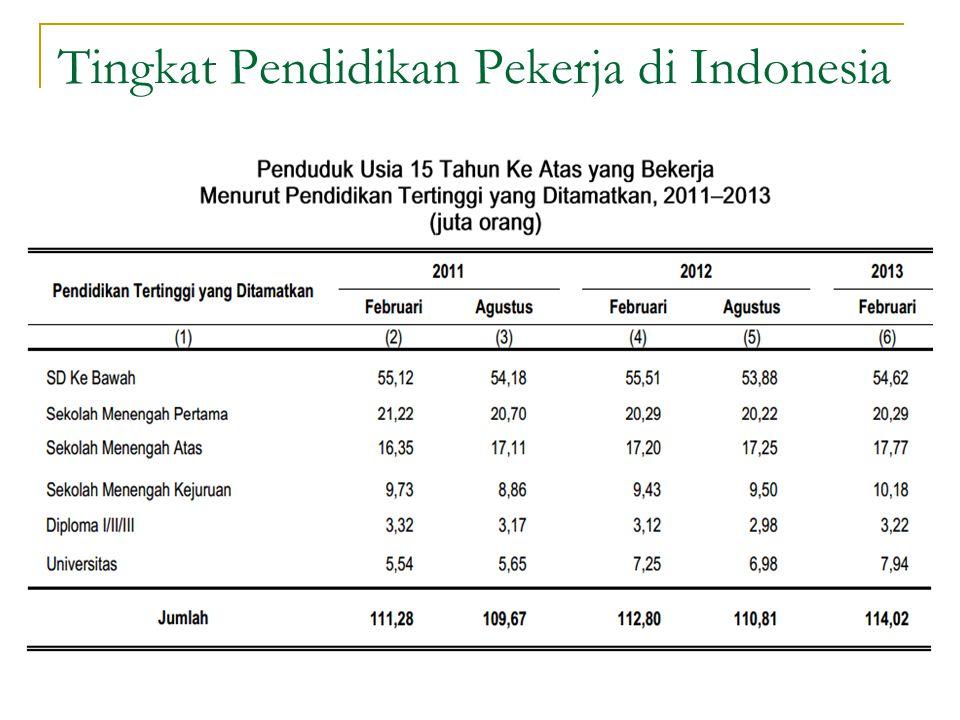Tingkat Pendidikan Pekerja di Indonesia