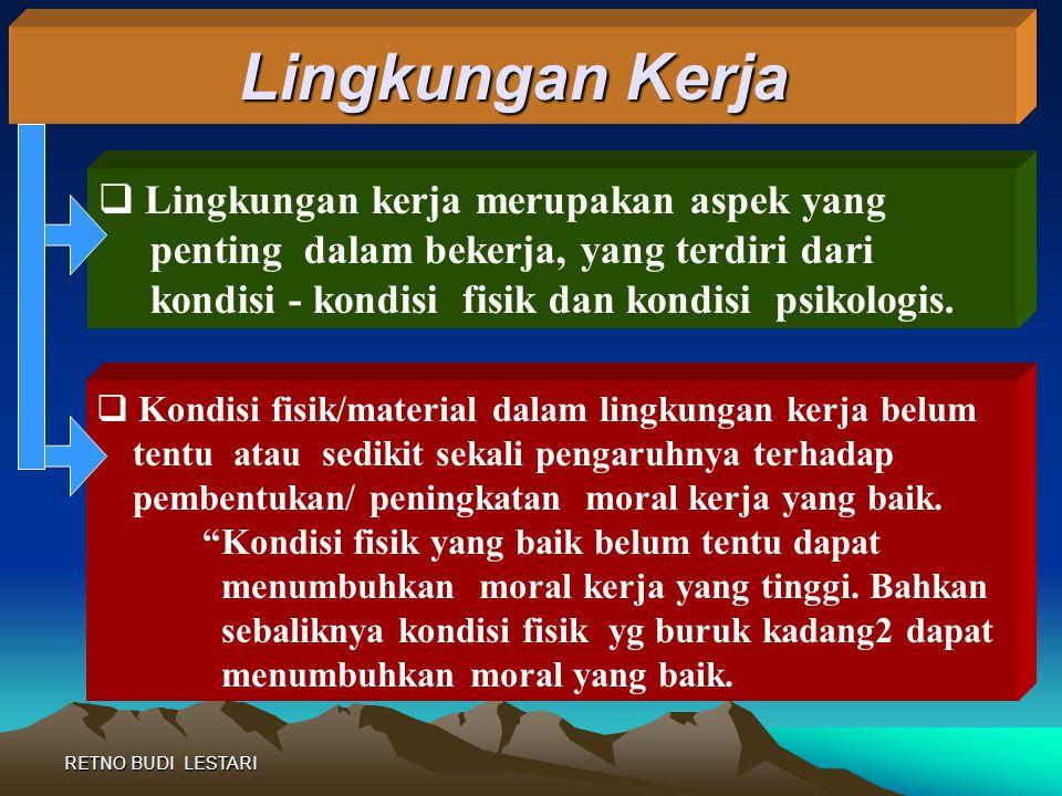 RETNO BUDI LESTARI  Sistem Ganjaran dan Hukuman Sebagai Unsur Insentif Ganjaran dan hukuman harus dilakukan secara adil dan jujur.