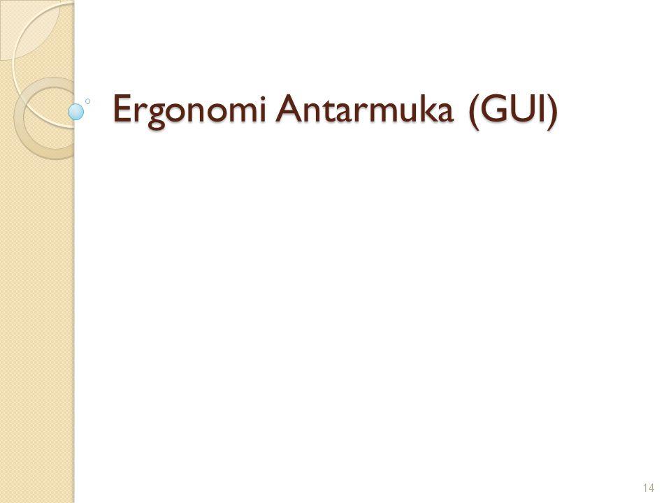 Ergonomi Antarmuka (GUI) 14