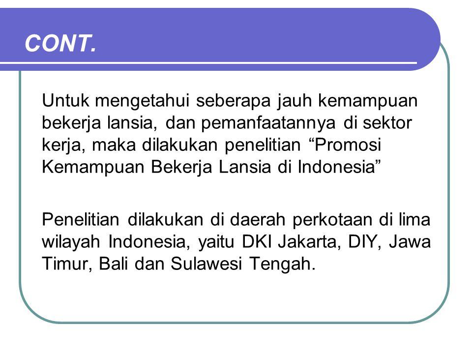 Source: Sri Moertiningsih Adioetomo, 2009 Cont.